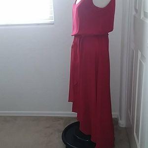 MSK DESIGNED RED CHIFFON BLOUSON DRESS SIZE 6